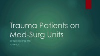 Trauma Patients on Med-Surg Units